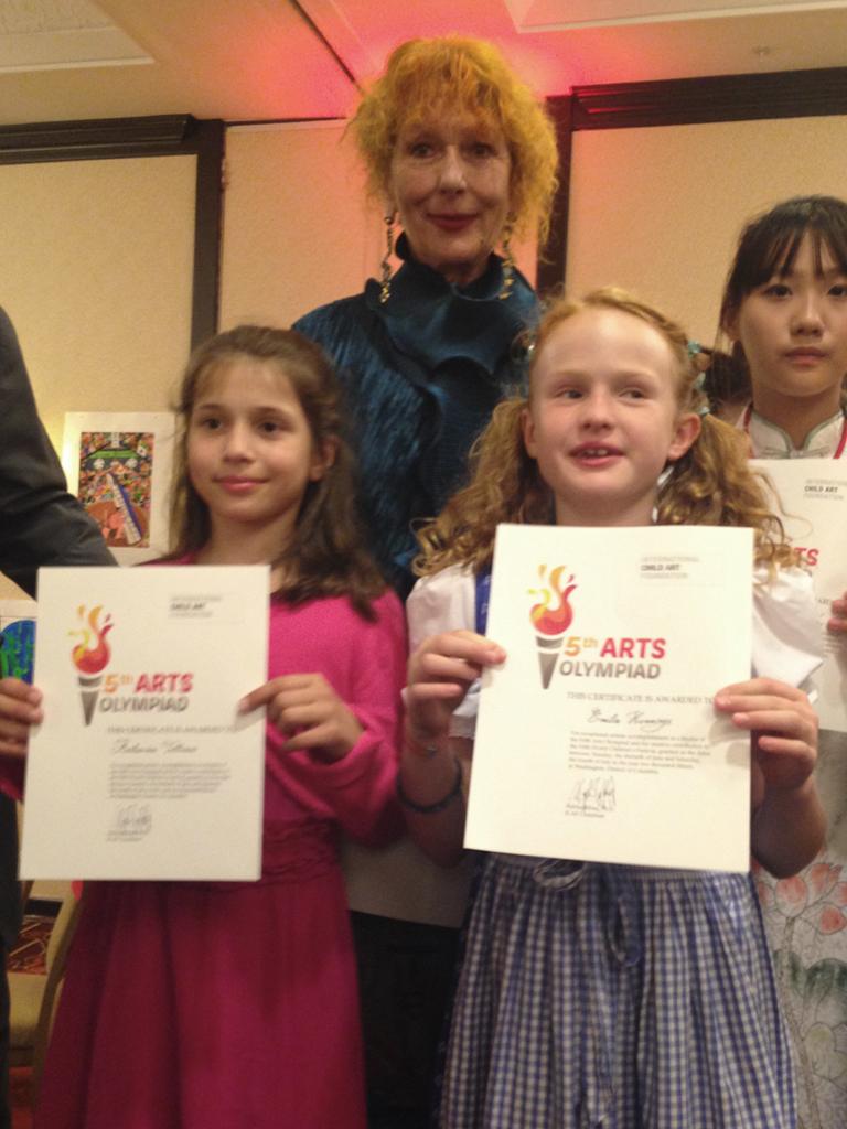 Gewinner der Kinderkunstolympiade 2015